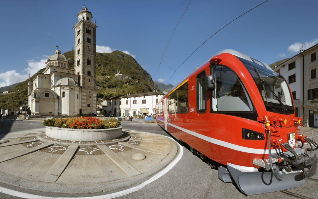 Tirano, Trenino Rosso del Bernina e Livigno